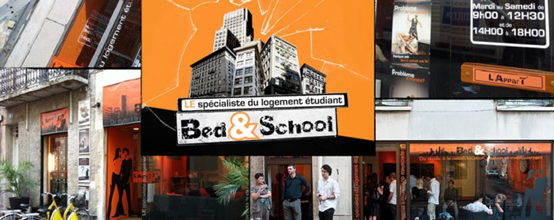 Illustration Bed&School